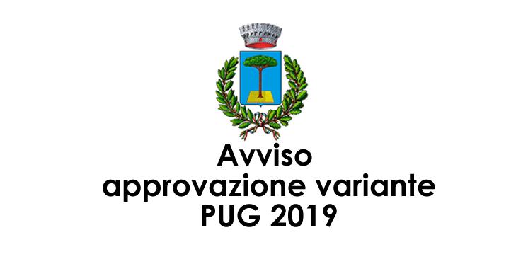 Avviso approvazione variante PUG 2019